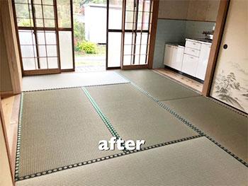 畳を綺麗に貼り直したことで清潔感溢れる和室に生まれ変わりました。